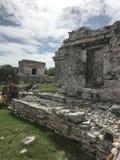 Playa del carmen mexico mayan ruins in tulum. Ruin of the maya people in tulum royalty free stock photo