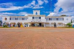 PLAYA DEL CARMEN, MEXIQUE LE 1ER JANVIER 2018 : Entrée au palais municipal dans le Playa del Carmen, Maya de la Riviera, Mexique  Photographie stock libre de droits