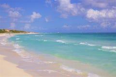 Riviera Maya , Mexico. Playa del Carmen and Riviera Maya beach, Mexico royalty free stock photography