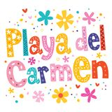 Playa del Carmen stock de ilustración