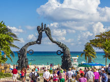 Playa del Carmenmonument Yucatan Mexico Royalty-vrije Stock Afbeelding