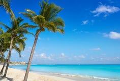 Playa del Carmenstrand i Riviera Maya arkivbild