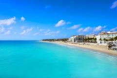 Playa del Carmenstrand in Riviera Maya stock afbeeldingen