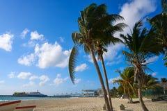 Playa del Carmenstrand in Riviera Maya royalty-vrije stock foto
