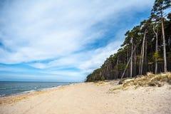 Playa del casquillo del remiendo s en Lituania Fotos de archivo libres de regalías