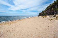 Playa del casquillo del remiendo s en Lituania Fotografía de archivo libre de regalías
