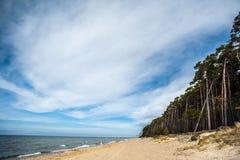 Playa del casquillo del remiendo s en Lituania Imagen de archivo