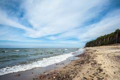 Playa del casquillo del remiendo s en Lituania Fotos de archivo