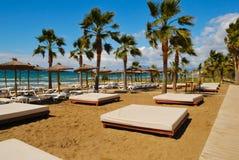 Playa del centro turístico Fotografía de archivo libre de regalías