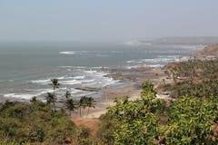 Playa del centro turístico de la India Fotos de archivo libres de regalías