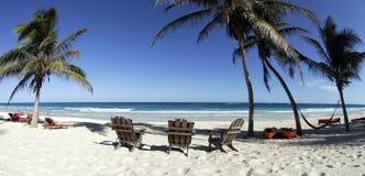 Playa del centro turístico del paraíso   Fotos de archivo