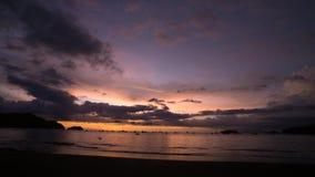 Playa del Coco哥斯达黎加日落 股票视频