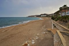 Playa del Cueva del Lobo de Mojacar Almeria Andalusia Spain fotos de archivo