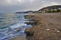Playa del Cueva del Lobo de Mojacar Almeria Andalusia Spain imagenes de archivo