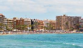 Playa del Cura i Torrevieja, Spanien fotografering för bildbyråer