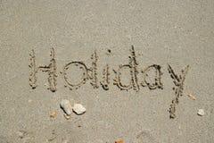 Playa del día de fiesta Foto de archivo
