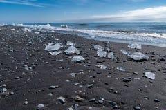 Playa del diamante, Jokulsarlon - Islandia Fotos de archivo