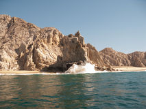 Playa del divorcio en el extremo de las tierras Imagen de archivo libre de regalías