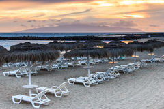 Playa del Duque at sunset. Royalty Free Stock Photo