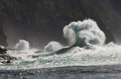 Playa del ` e de KE, onda estupenda, Kauai, Hawaii Fotografía de archivo