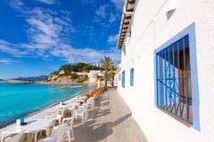 Playa del EL Portet del playa de Moraira en Alicante Foto de archivo libre de regalías