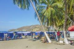 Playa del EL Rodadero en Colombia foto de archivo libre de regalías