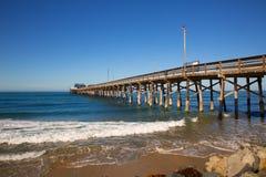 Playa del embarcadero de Newport en California los E.E.U.U. Imagenes de archivo