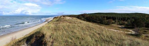 Playa del escupitajo de Curonian Fotografía de archivo
