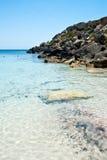 Playa del favignana. isla aegadian Foto de archivo