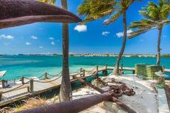 Playa del flamenco en la isla de Aruba Fotos de archivo libres de regalías