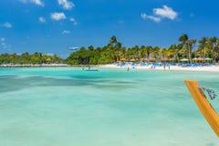 Playa del flamenco en la isla de Aruba Foto de archivo libre de regalías