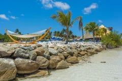 Playa del flamenco en la isla de Aruba Fotografía de archivo