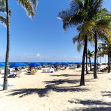 Playa del Fort Lauderdale en la Florida el fin de semana del Día del Trabajo en los Estados Unidos fotos de archivo