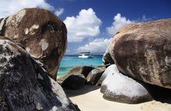 Playa del granito foto de archivo