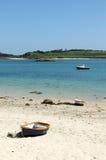 Playa del Green Bay, islas de Bryher de Scilly. Imágenes de archivo libres de regalías