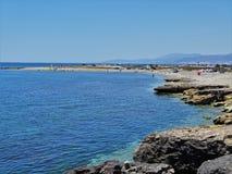 Playa del Guardias Viejas del EL Ejido Almeria Andalusia Spain imagen de archivo libre de regalías