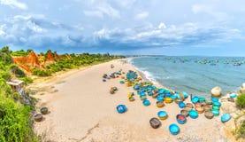 Playa del hijo de Ganh en tarde soleada Imágenes de archivo libres de regalías