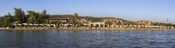Playa del hotel del mar de Anthemus Fotos de archivo libres de regalías