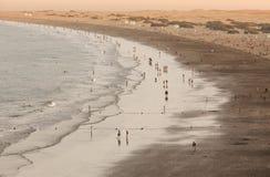 Playa del Inglés au crépuscule photographie stock libre de droits