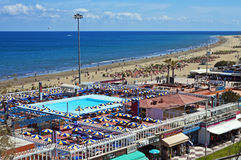 Playa del InglA©ss,加那利群岛 库存图片