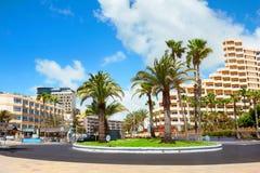Playa del Ingles市 Maspalomas canaria gran 库存照片