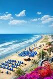 Playa del Ingles海滩 Maspalomas canaria gran 免版税库存图片