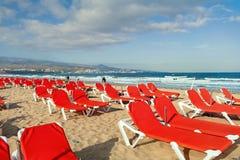 Playa del Ingles海滩 Maspalomas canaria gran 免版税图库摄影