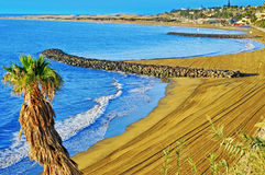 Playa del Ingles beach in Maspalomas, Gran Canaria, Spain Stock Photos