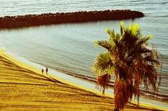 Playa del Ingles beach in Maspalomas, Gran Canaria, Spain Royalty Free Stock Images