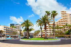 Playa del Ingles city. Maspalomas. Gran Canaria. Stock Photos