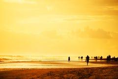 Playa del Ingles dans mamie Canaria, Espagne Images libres de droits