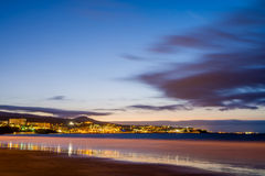 Playa del Ingles at dawn Royalty Free Stock Photo
