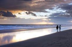 Playa del Ingles en Gran Canaria, España Foto de archivo libre de regalías