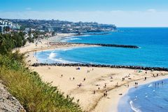 Playa del Ingles, Gran Canaria royalty-vrije stock afbeeldingen